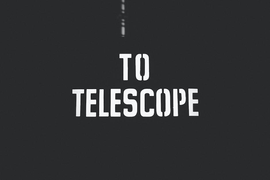 telescope, typography