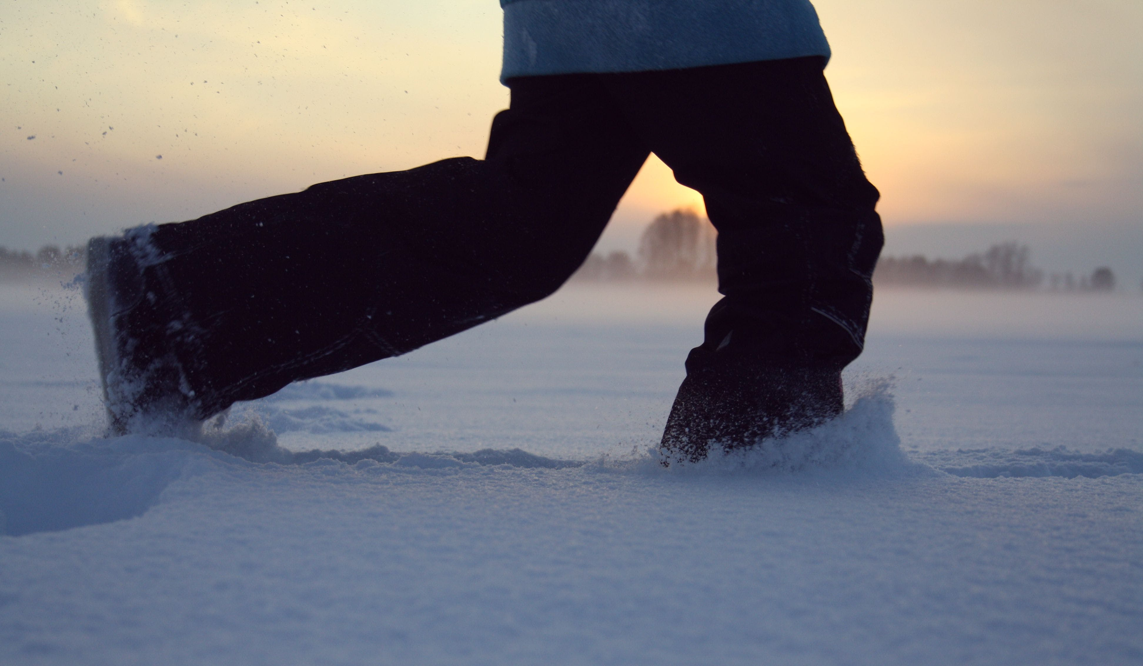 Free stock photo of #winter #snow #sunset