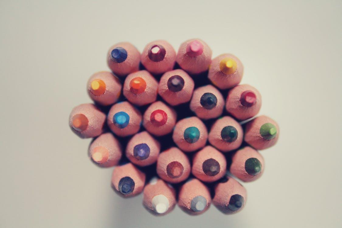 деревянные карандаши, карандаши, радуга