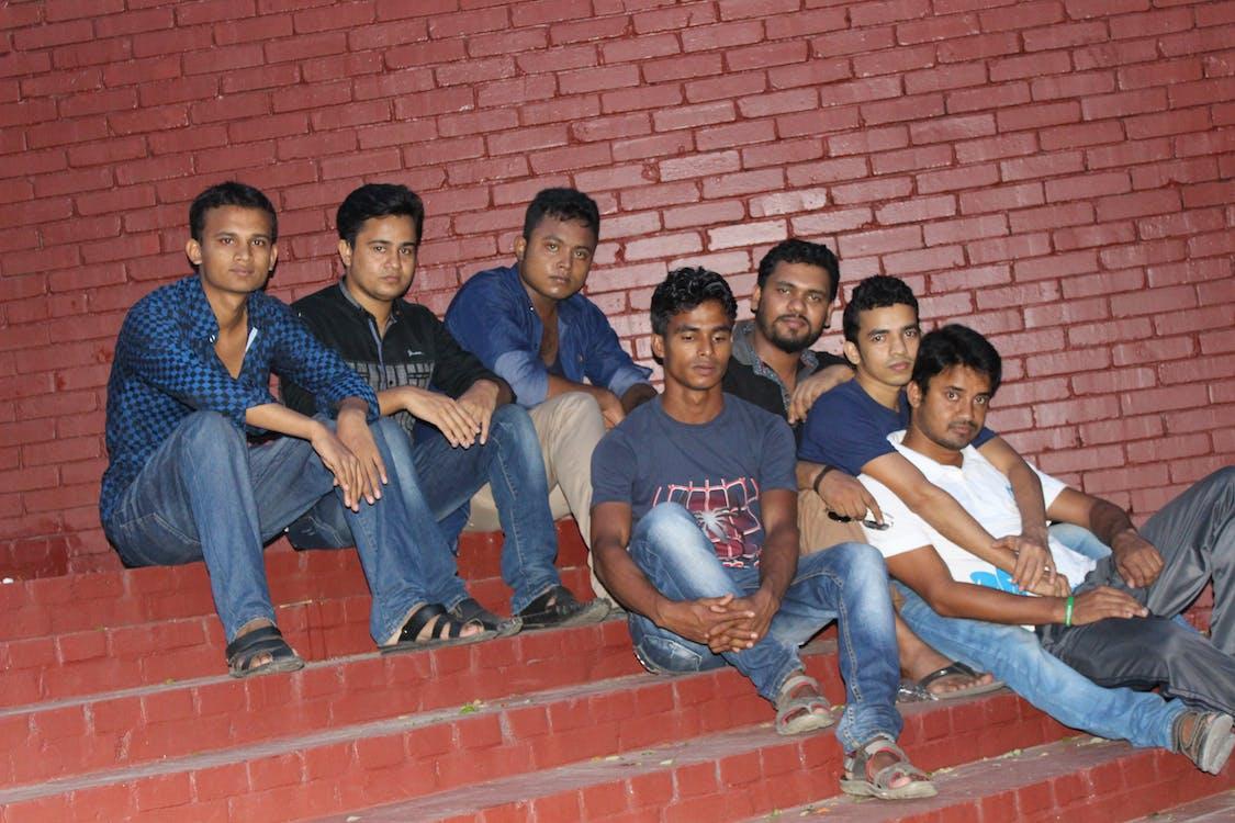 Kostenloses Stock Foto zu einige freunde von miraj, md mirajul islam, studenten