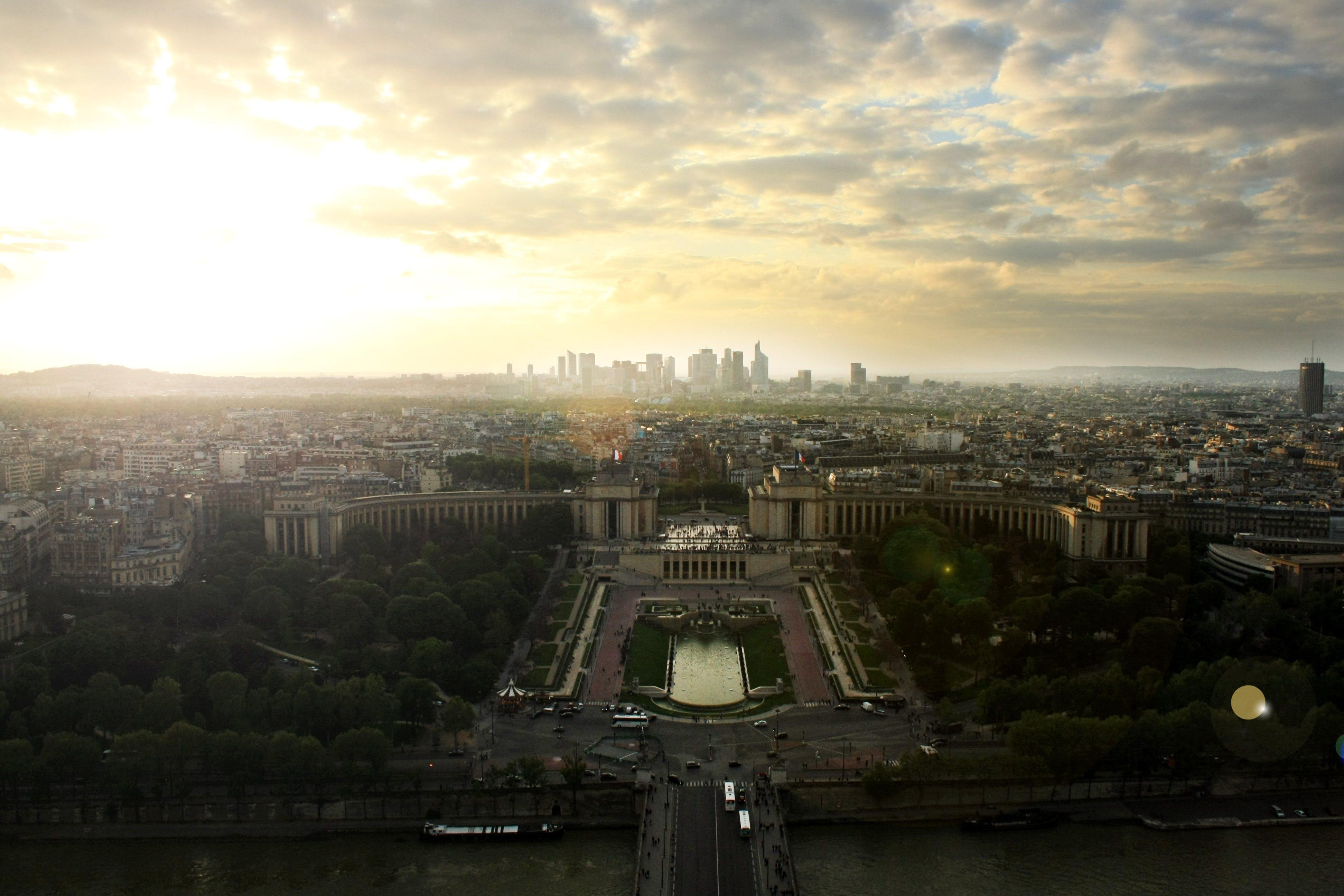 Free stock photo of city, sky, eiffel tower, paris