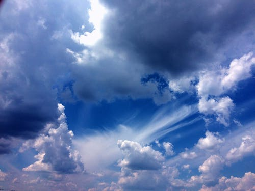Free stock photo of beautiful sky, blue sky, bright sky