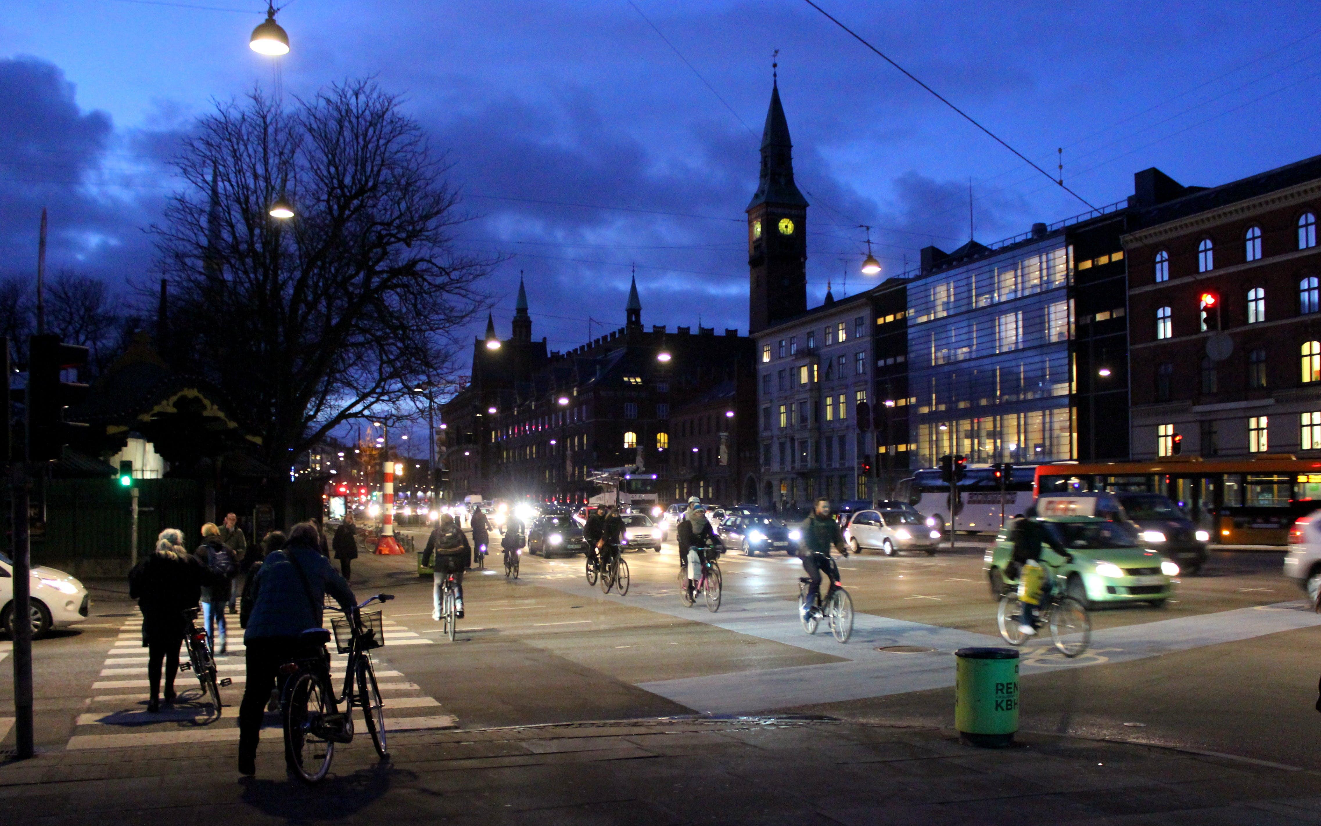 Free stock photo of city, night, copenhagen