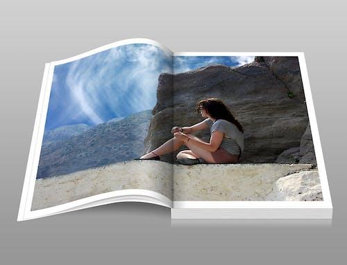 Foto stok gratis album, awan, batu, buku foto
