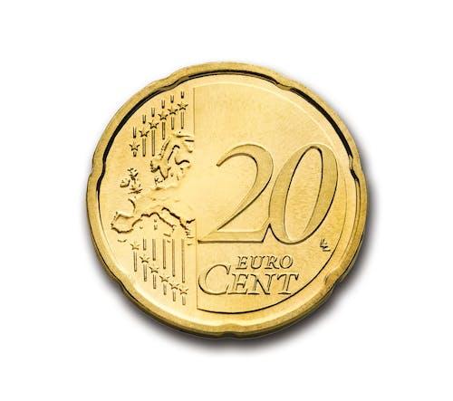 Ingyenes stockfotó Arany, cent, érme, euró témában