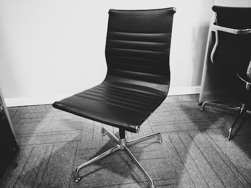 Free stock photo of black and white, chair, corporate, leather seat