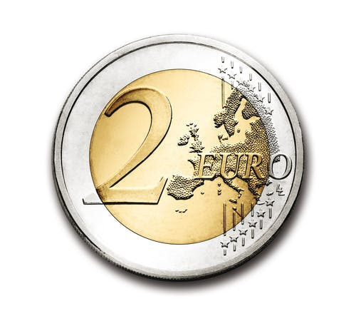 Darmowe zdjęcie z galerii z 2 euro, euro, europa, moneta