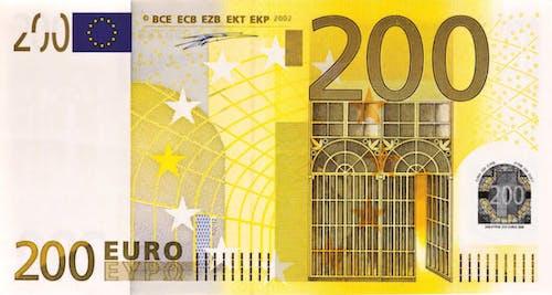 Photos gratuites de 200 euros, argent, billet de banque, cash