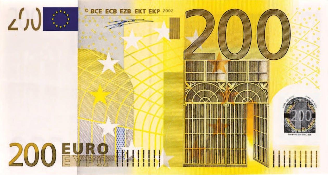 200 euro, banknot, euro