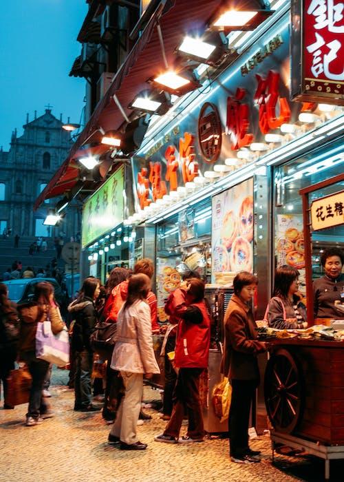 Foto profissional grátis de comida de rua, local, mercado noturno, nativo