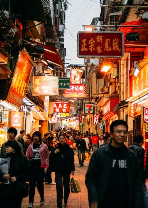 亭, 人, 人群, 城市 的 免费素材图片