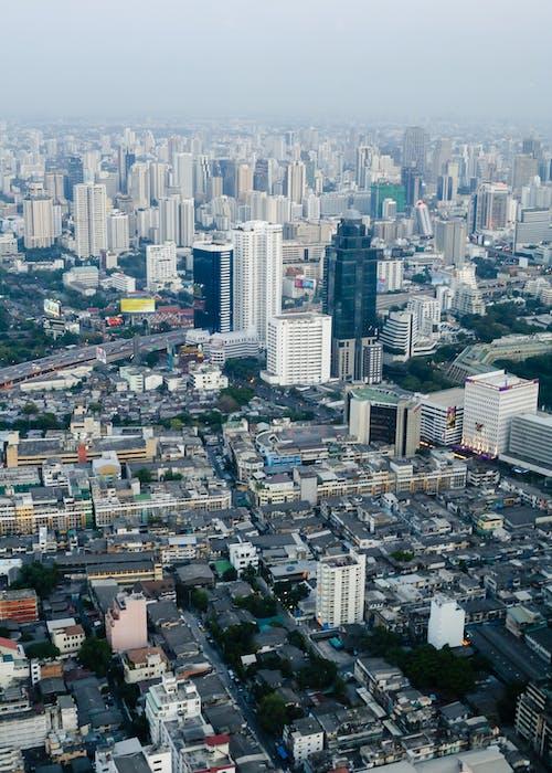 Foto profissional grátis de aéreo, antena, apartamento, arquitetura