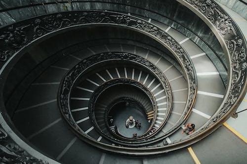 Spiral stairway in modern building