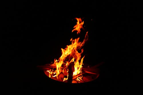 Free stock photo of fire, night, wood