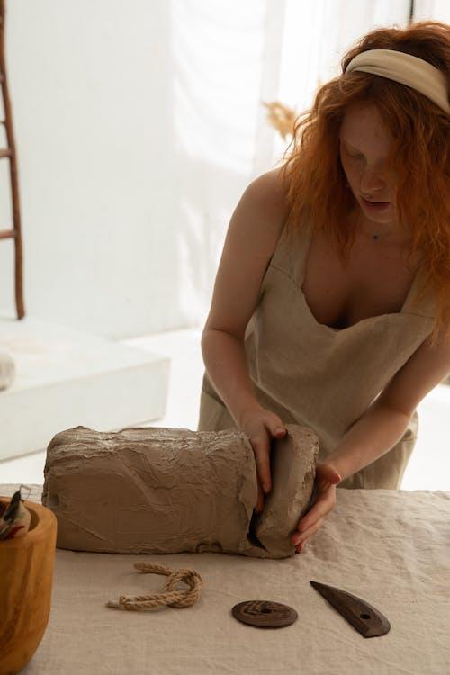 คลังภาพถ่ายฟรี ของ clayware, craftswoman, กระบวนการ, การผลิต