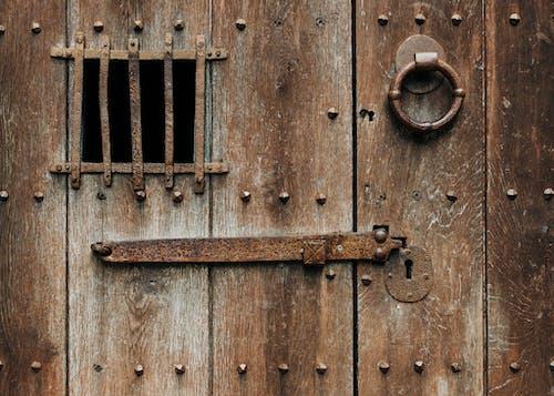 Close Up of Old Rusty Door