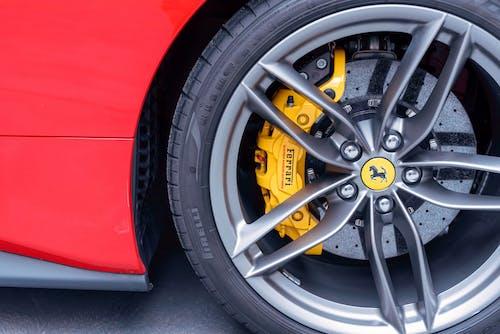 Free stock photo of brake disc, brakes, Ferrari, ferrari brakes