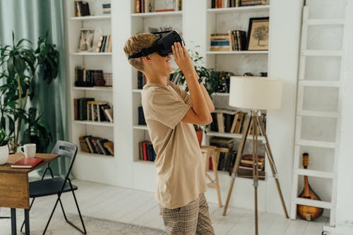 Boy Playing with Vr
