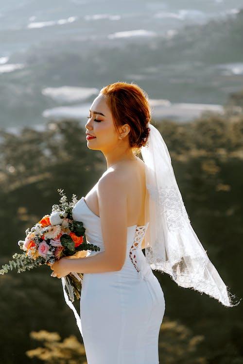 Základová fotografie zdarma na téma asiatka, bílé šaty, čerstvý, čistý