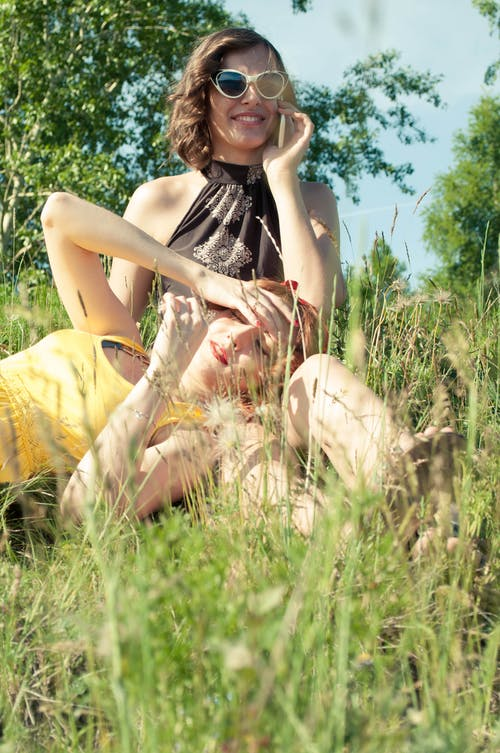 Imagine de stoc gratuită din femei, frumos, iarbă, modele
