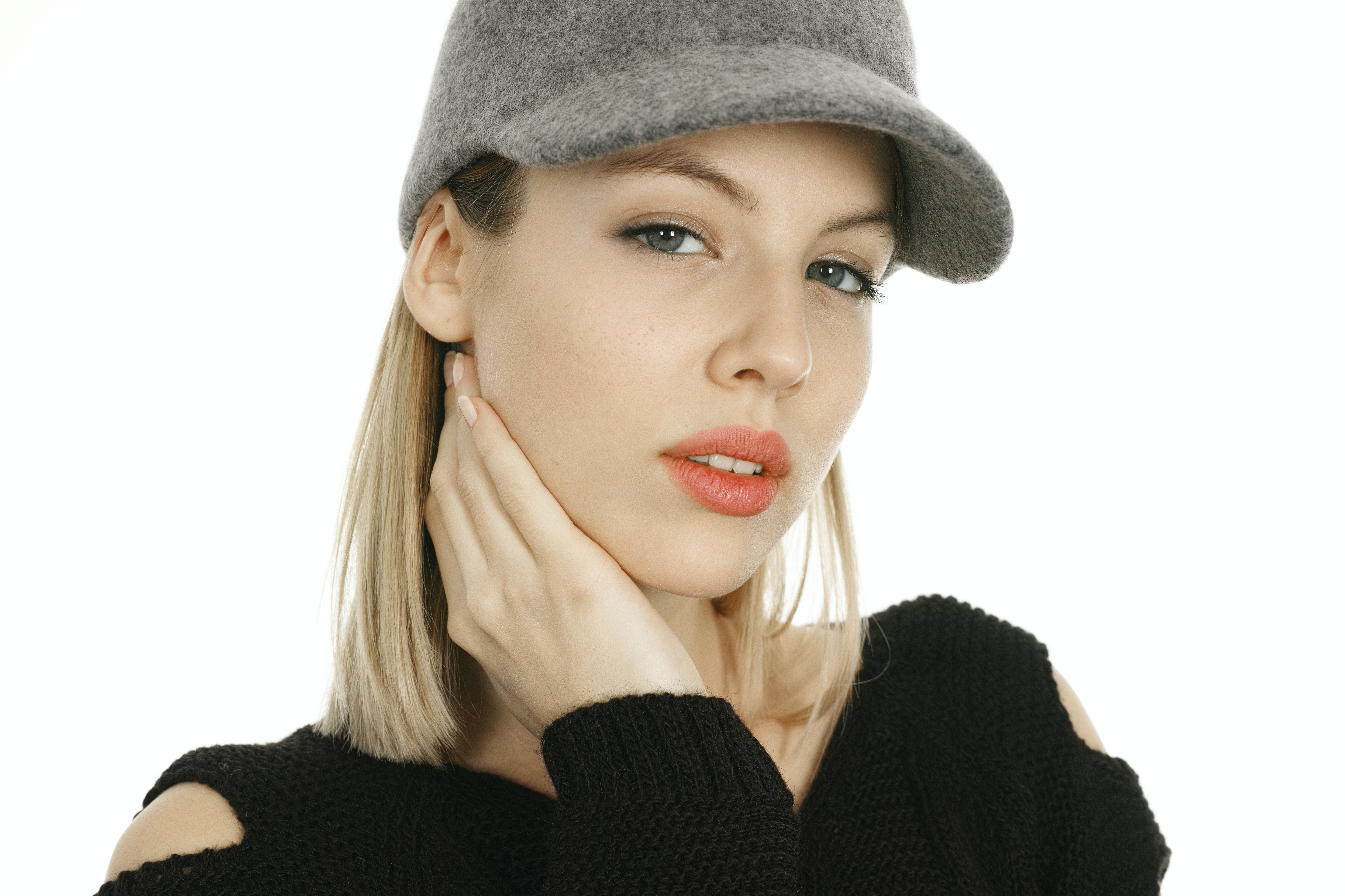 cf51af9f1 Woman Making Model Pose Holding Her Neck · Free Stock Photo