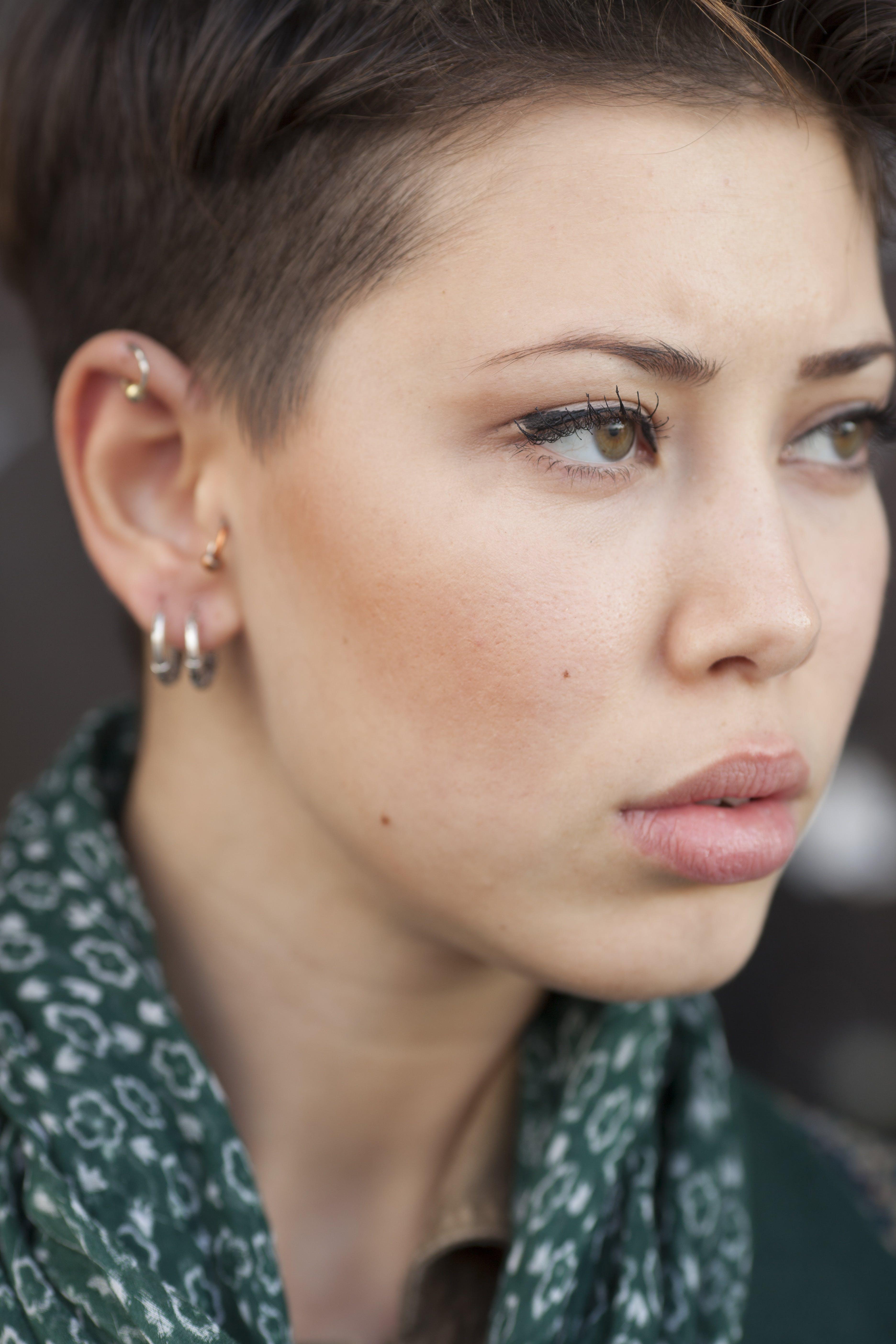 Woman Looking Thru