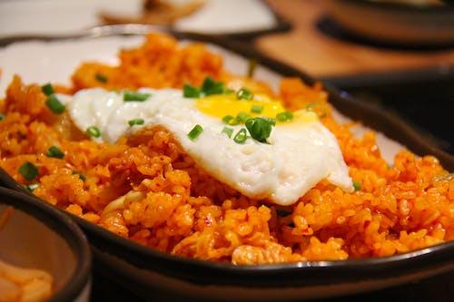 Základová fotografie zdarma na téma jídlo, oběd, rýže, smažená rýže