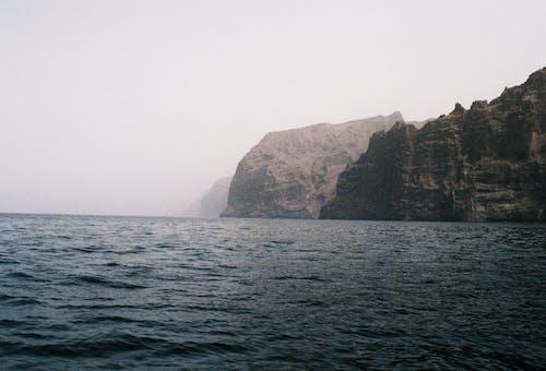 Free stock photo of analog, blue sea, mountain