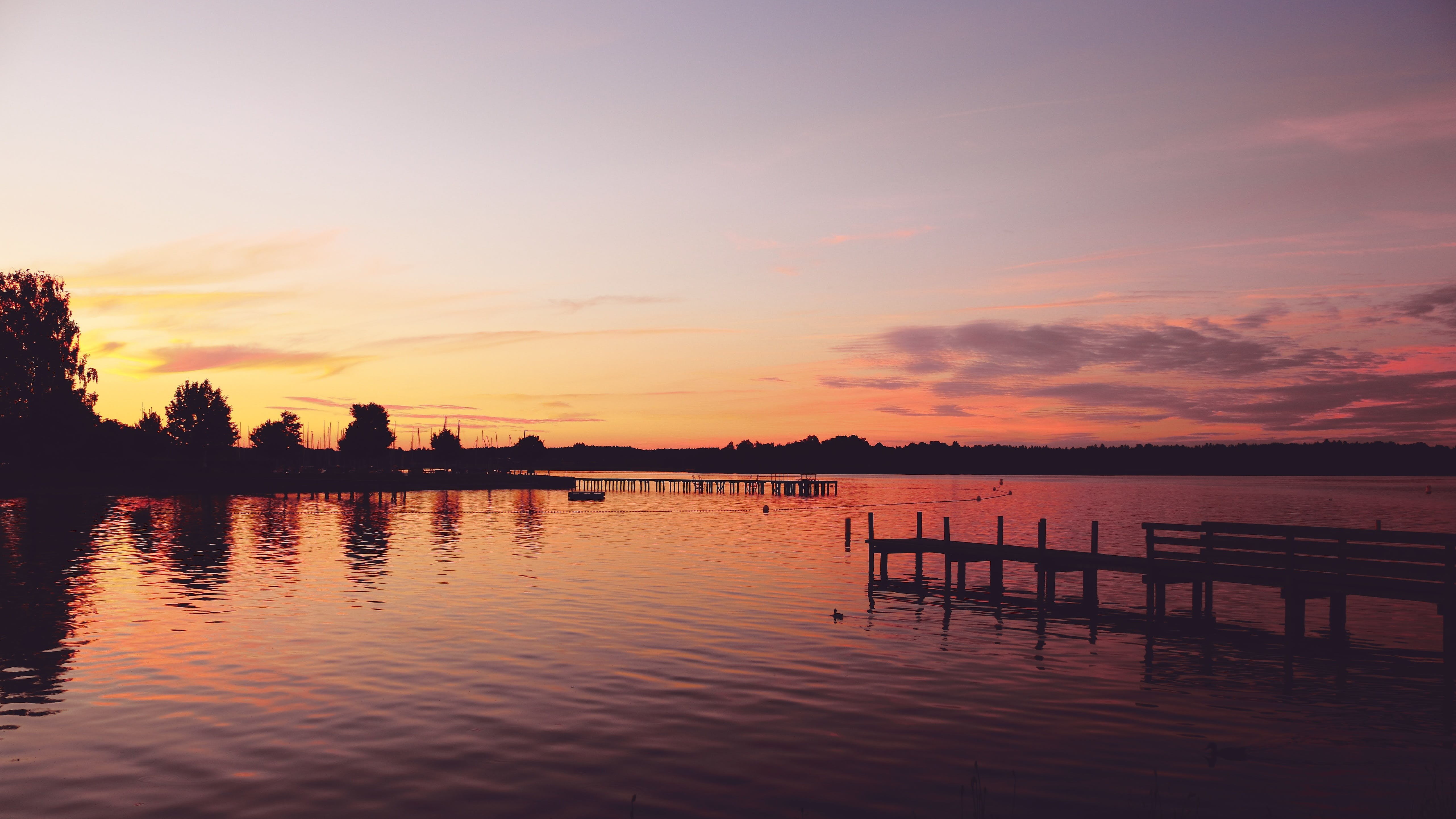 Silhouette Photography of Dock