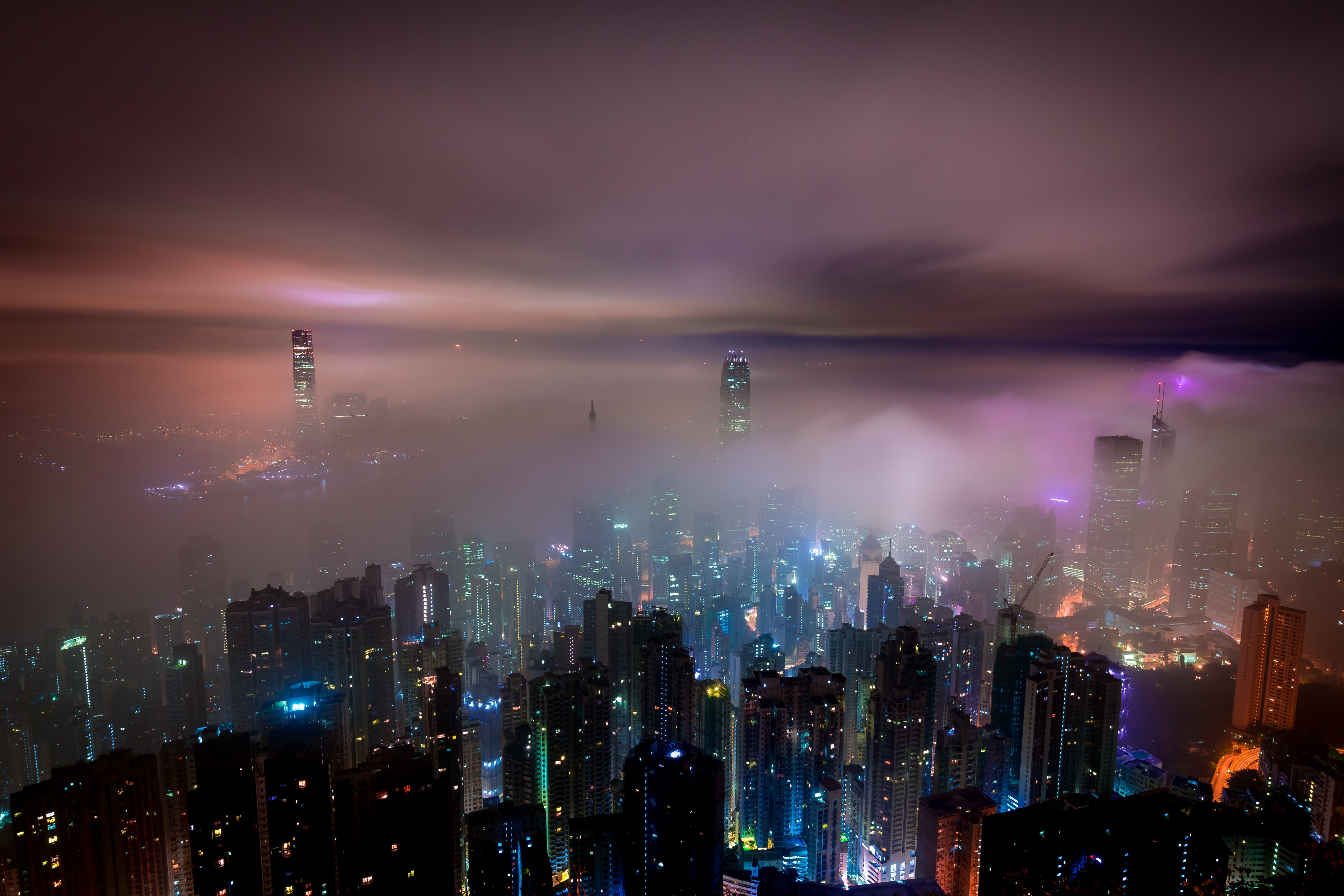Základová fotografie zdarma na téma budovy, finance, město, městské osvětlení
