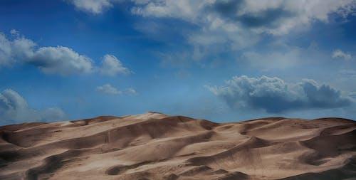 Foto stok gratis alam, awan, bukit, gersang