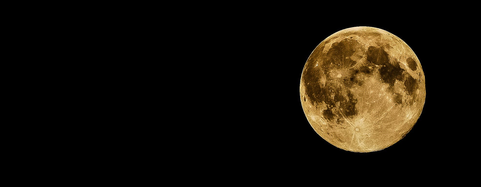 Full Moon during Night Time
