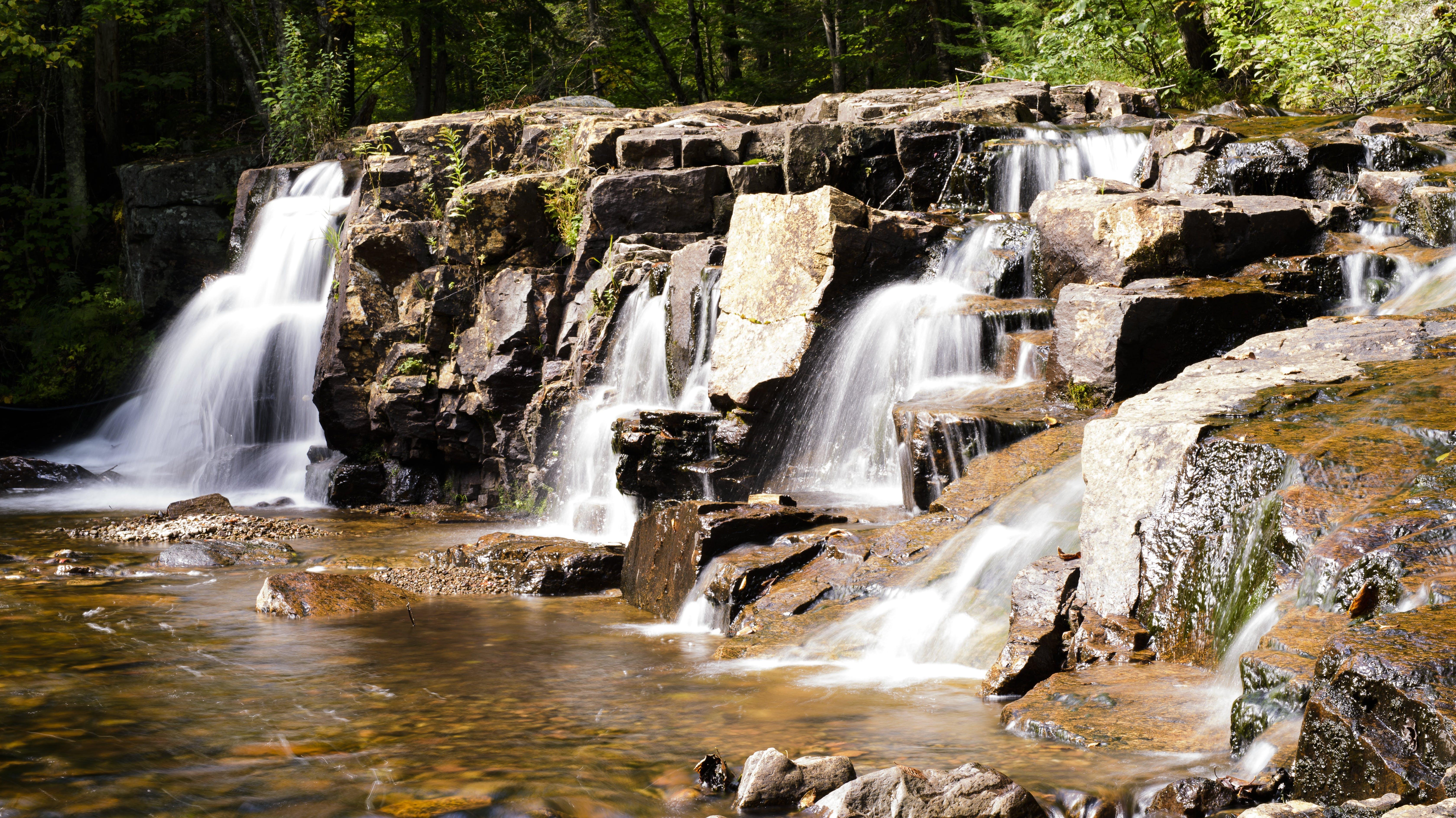 bedrock, cascade, creek