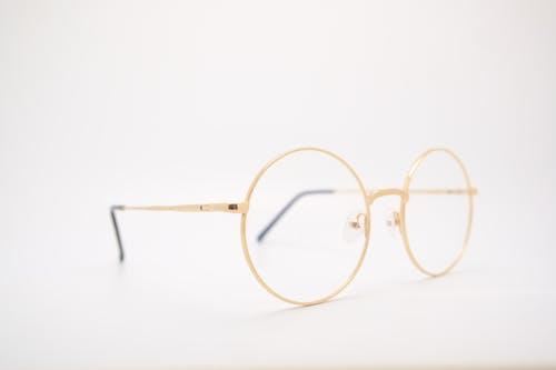 Foto d'estoc gratuïta de daurat, gots rodons, or, ulleres