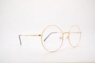 glasses, eyewear, gold