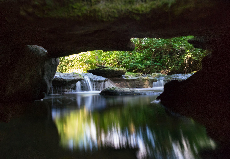 background, blur, cascade