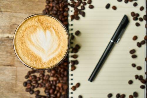 Kostnadsfri bild av anteckningsbok, aromatisk, bönor, brun