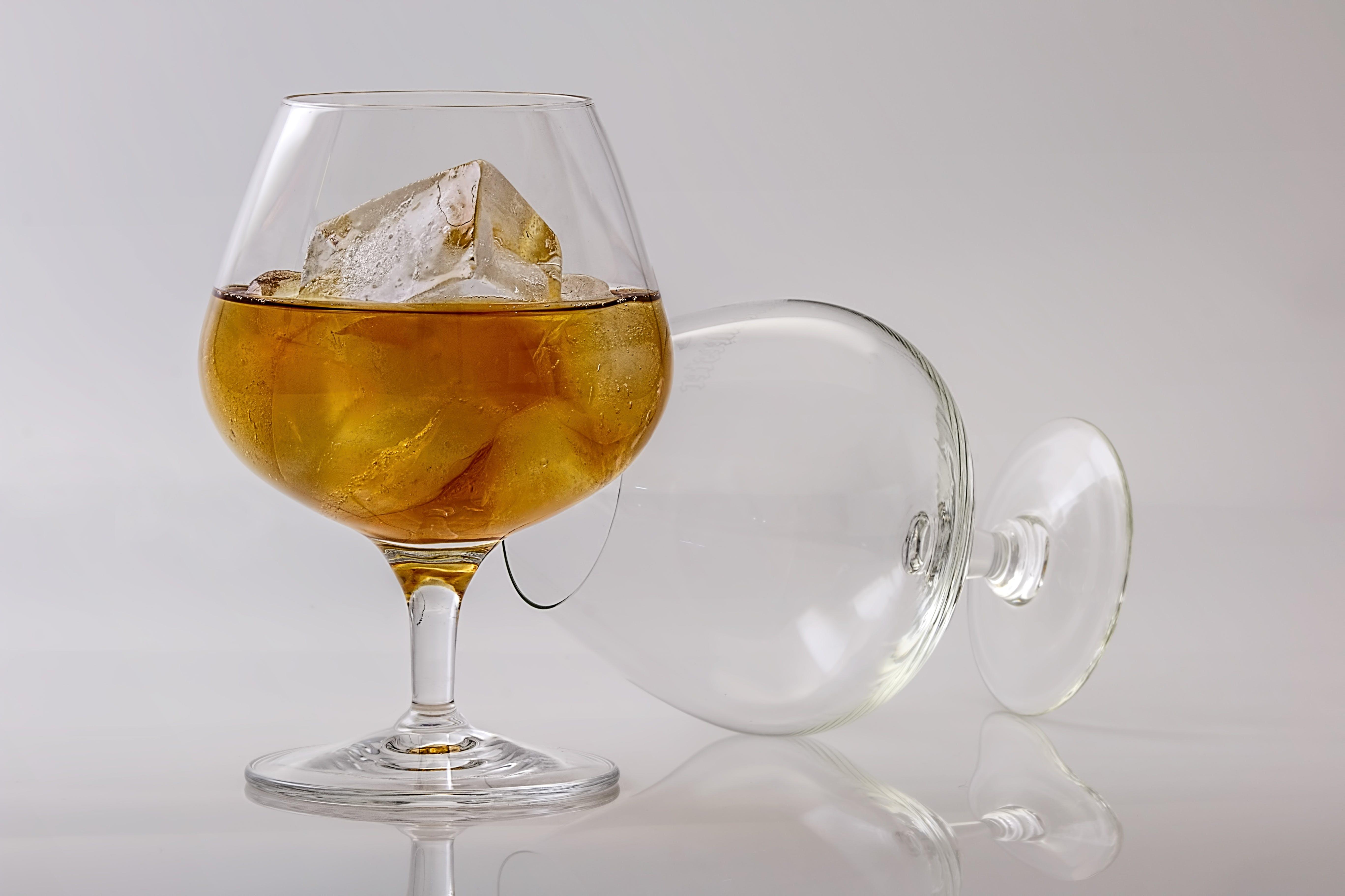 close-up, cognacglas, Drik