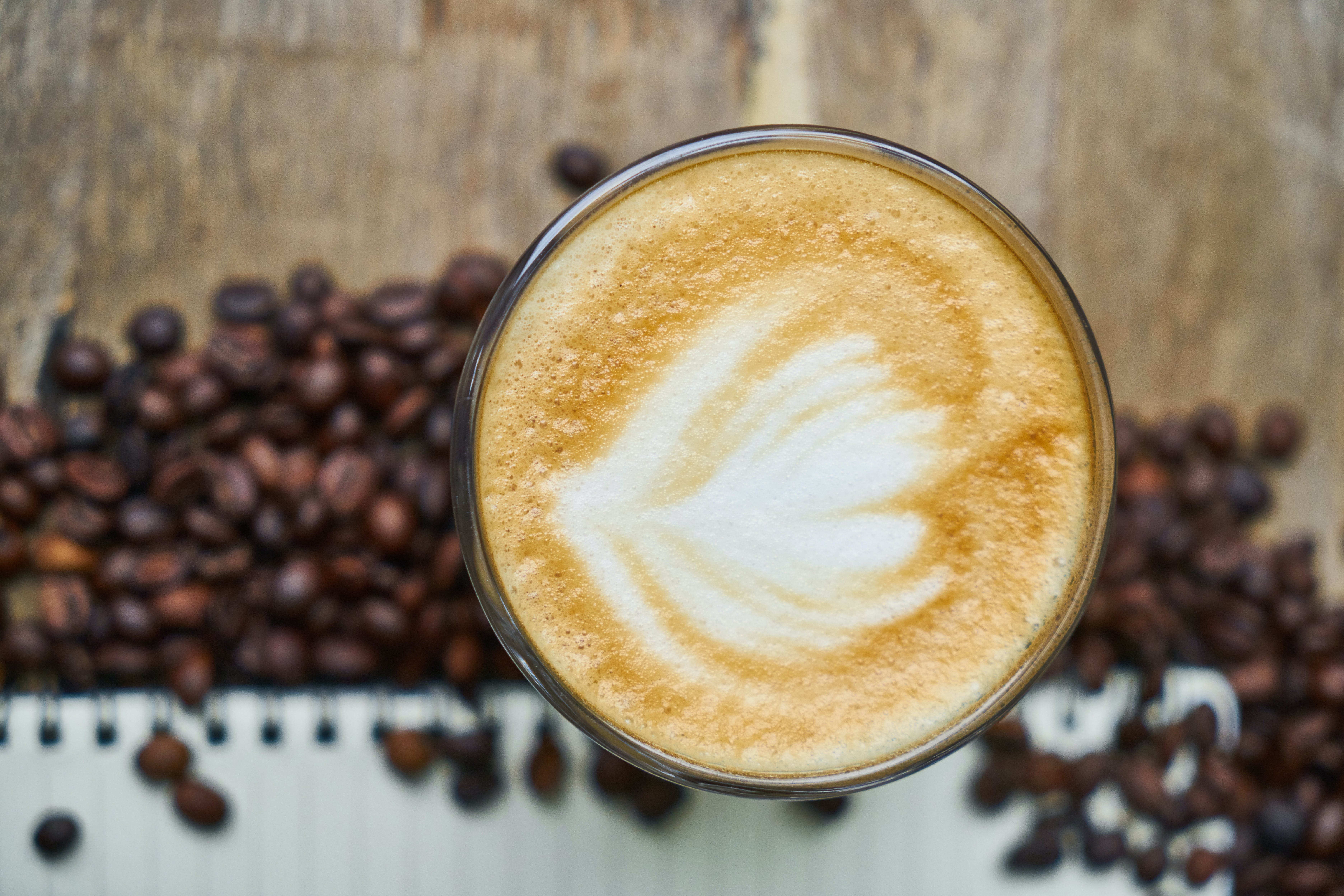 Selective Focus Photography of Coffee Latte
