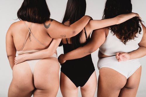 Three Women With Different Body Sizes