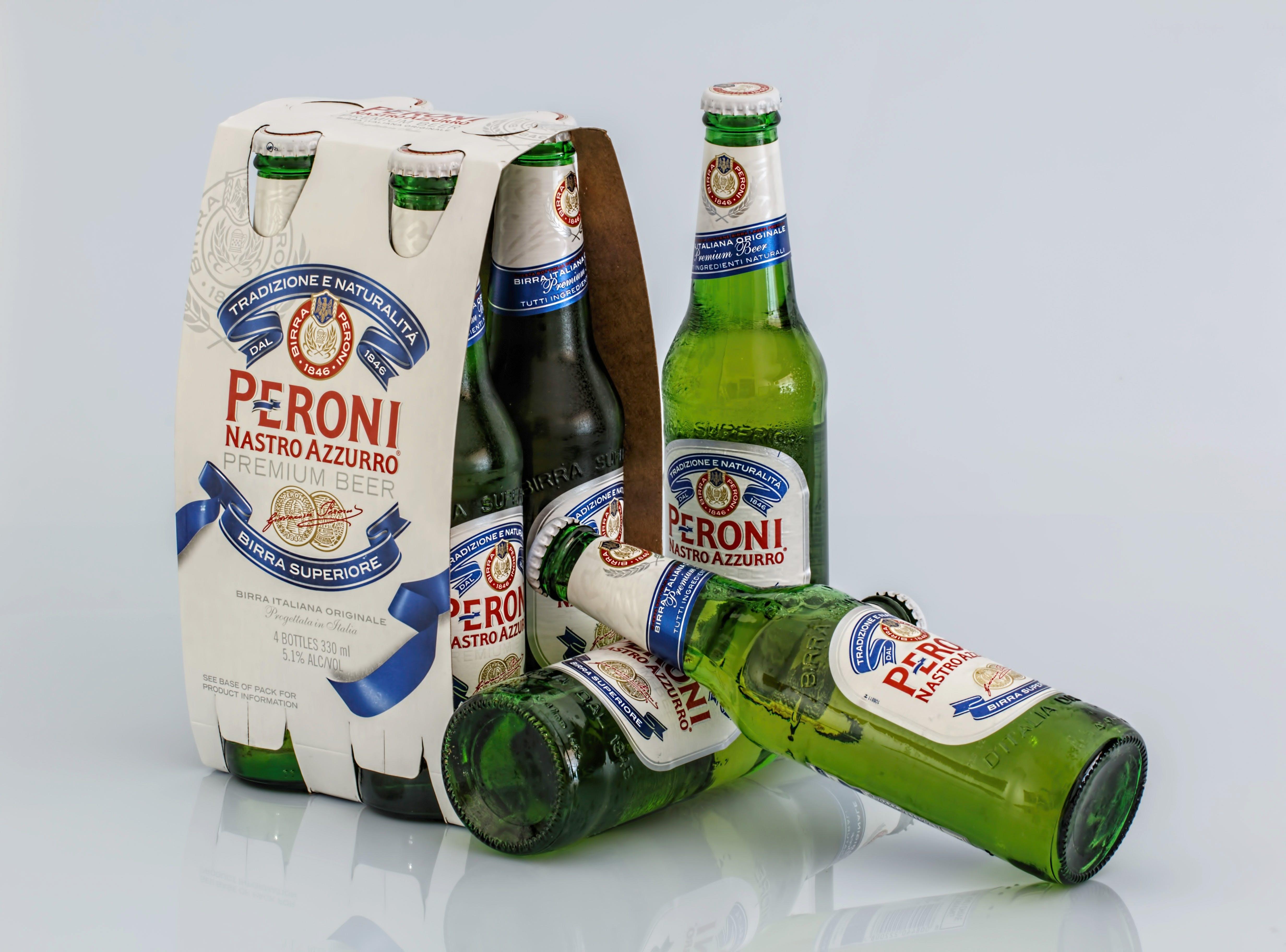 Several Peroni Beer Bottle