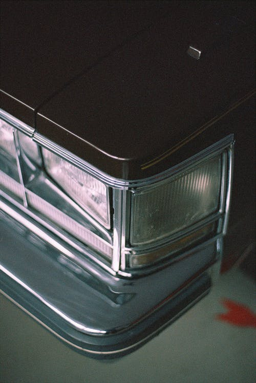 Black and Silver Car Grill