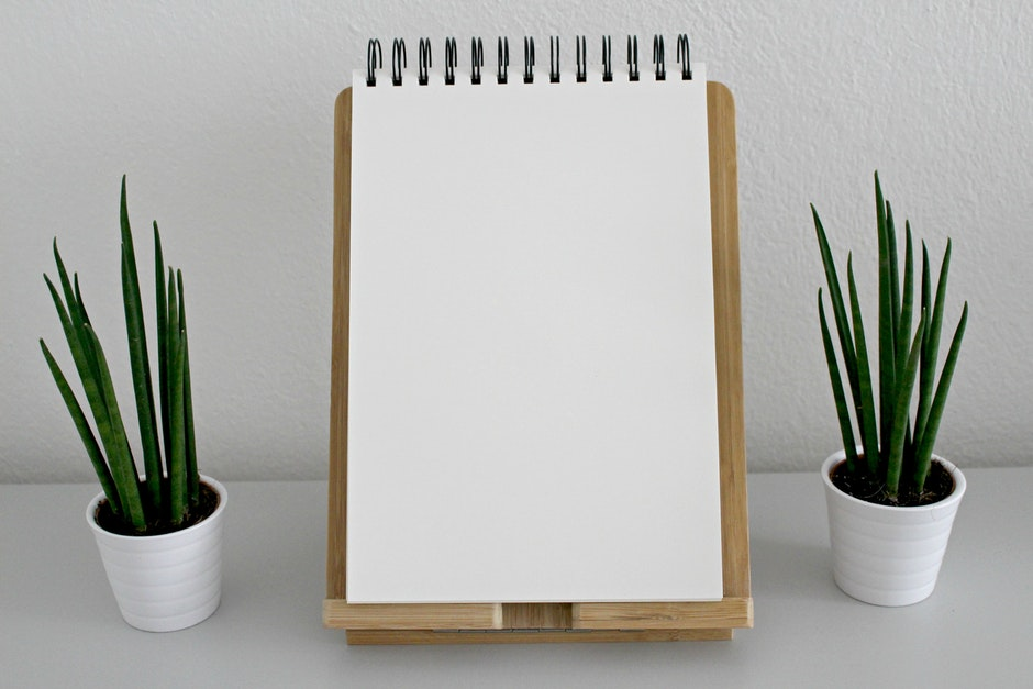 blank, book pages, desk