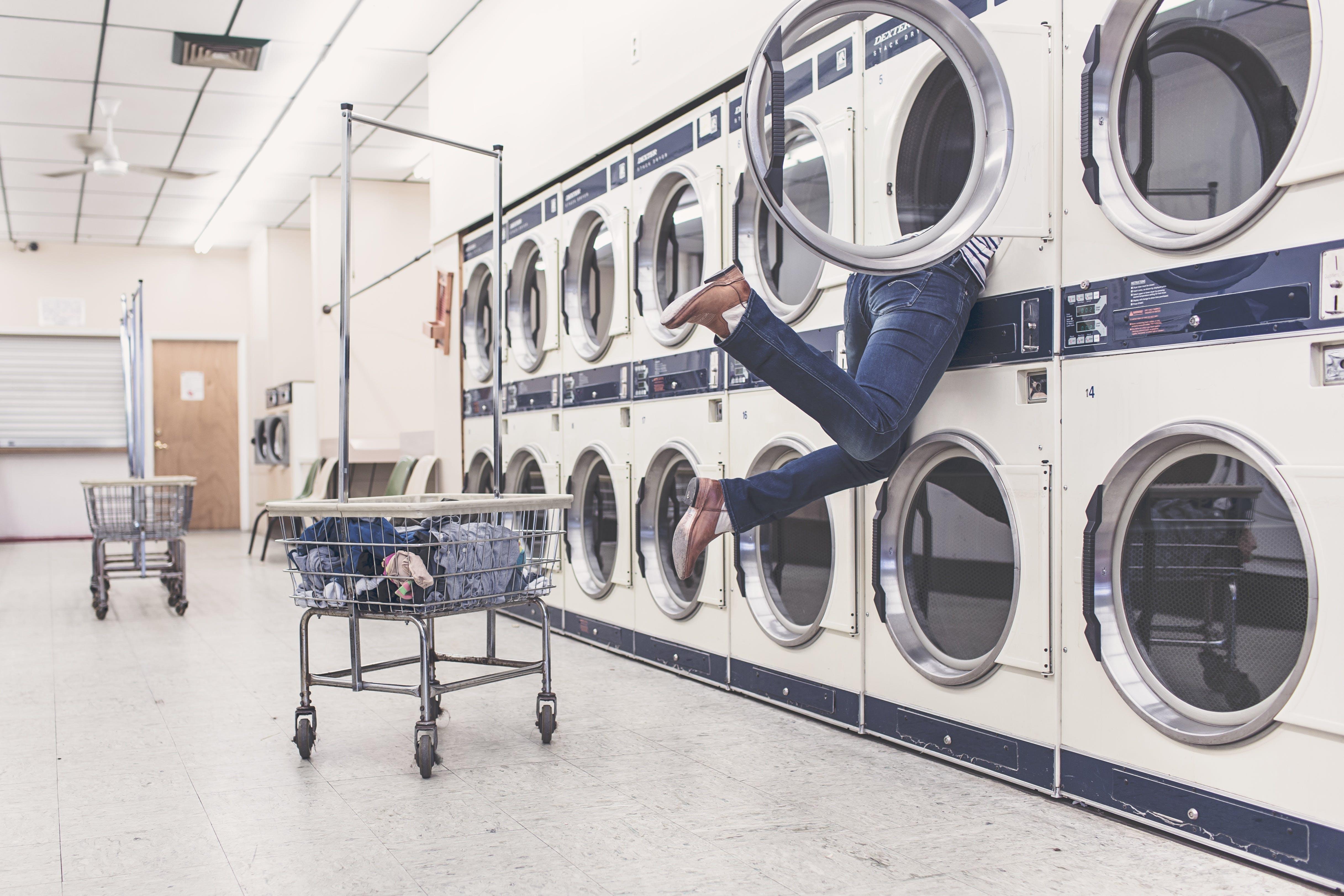 Free stock photo of people, woman, laundromat, laundry
