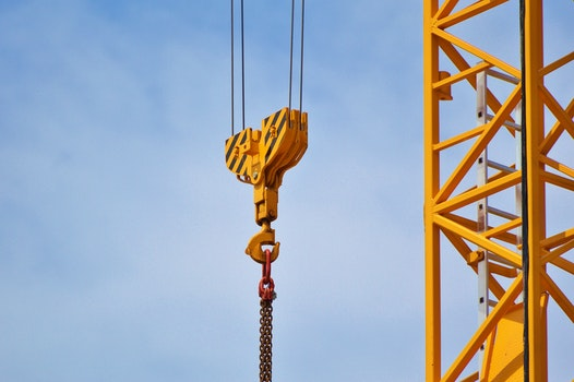 Free stock photo of sky, yellow, crane, high