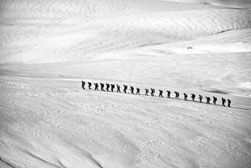 buz, çizgi, dağcı, doğa yürüyüşü içeren Ücretsiz stok fotoğraf