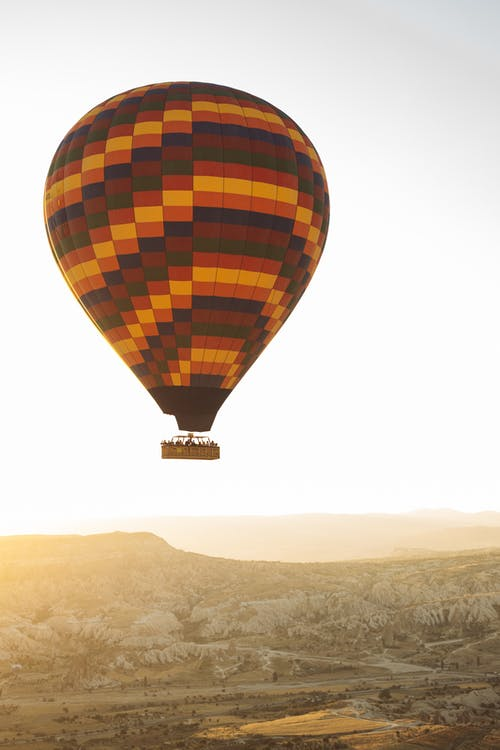 Red Yellow and Black Hot Air Balloon