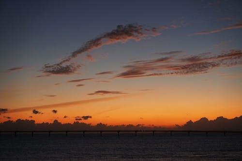 Kostnadsfri bild av bakgrundsbelyst, gryning, hav