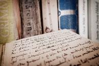 books, paper, open