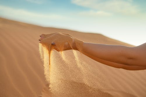 Person Lying on Sand